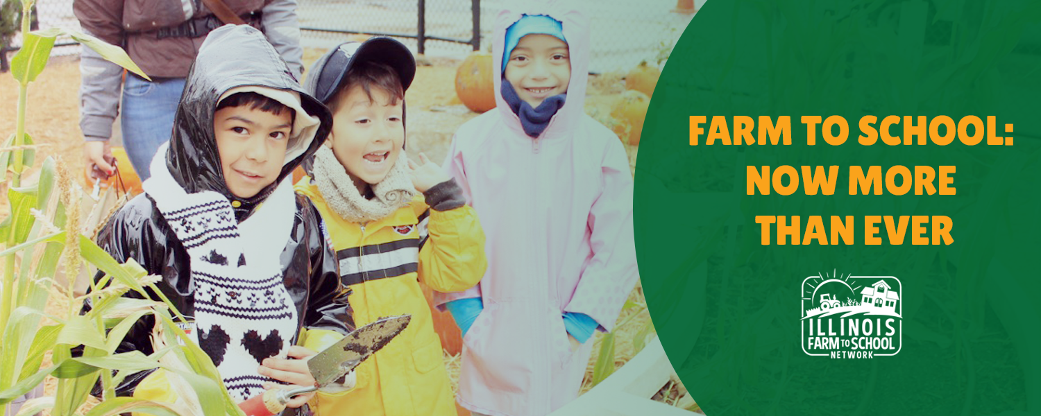 Illinois Farm to School Network Now More Than Ever Campaign Banner
